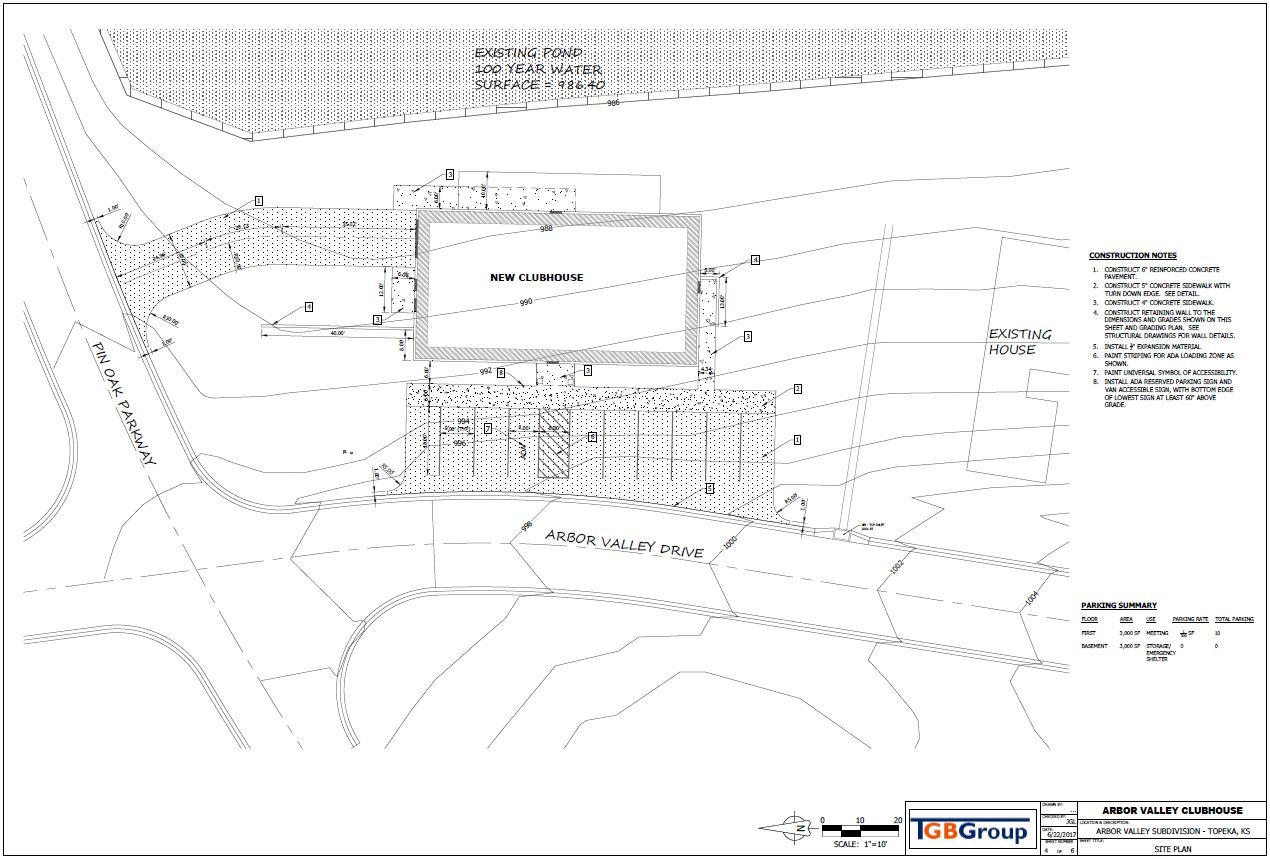 Arbor Valley Clubhouse Site Plan