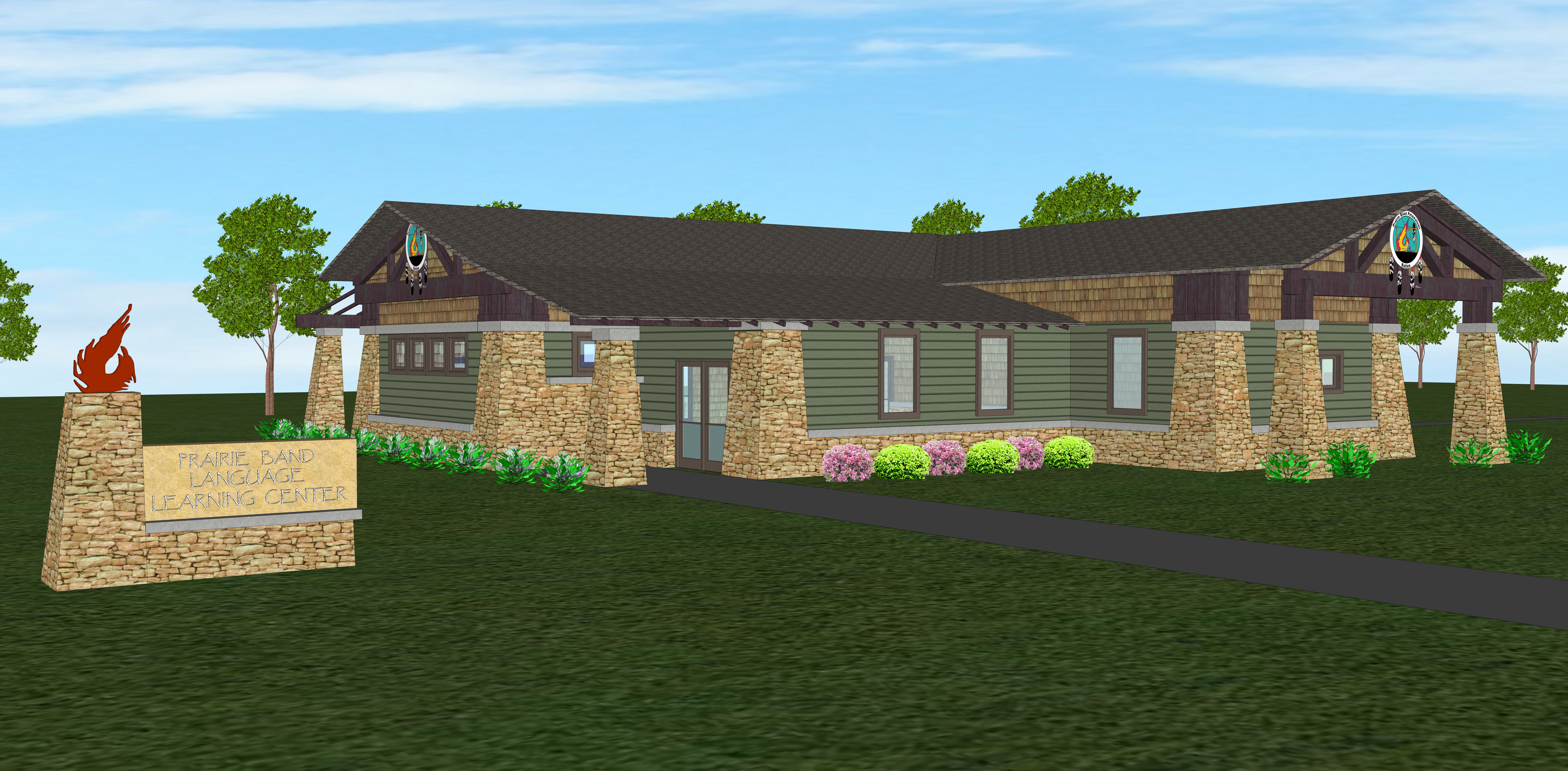 Prairie Band Learning Center 3D Concept