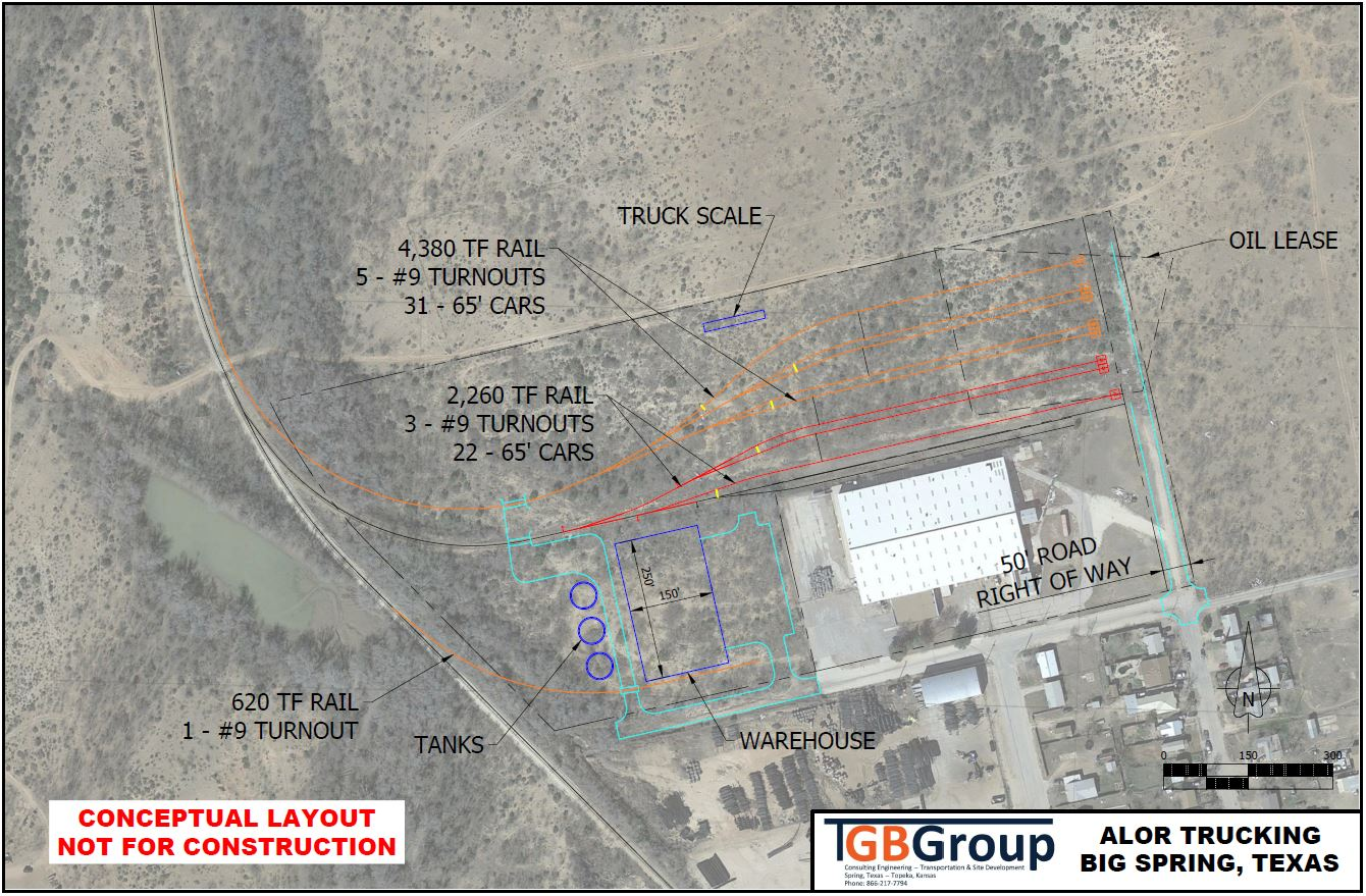 Alor Trucking Conceptual Layout