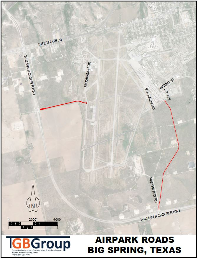 New Access Roads for McMahon Wrinkle Industrial Airpark