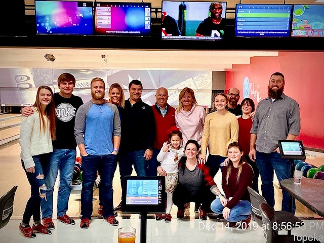 bowling at the TGB Group Christmas party